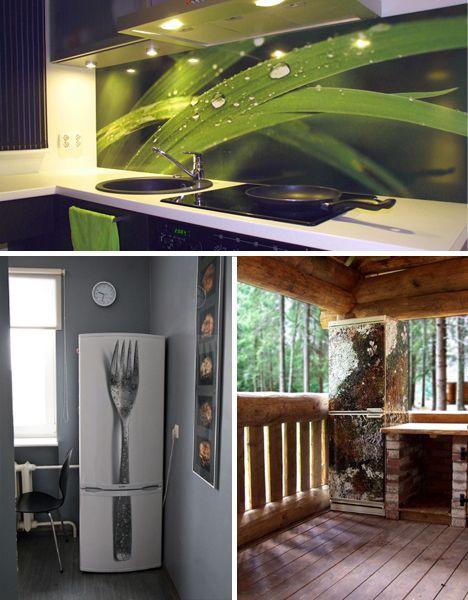 Photorealistic stickers- refrigerators, laptops and wall art