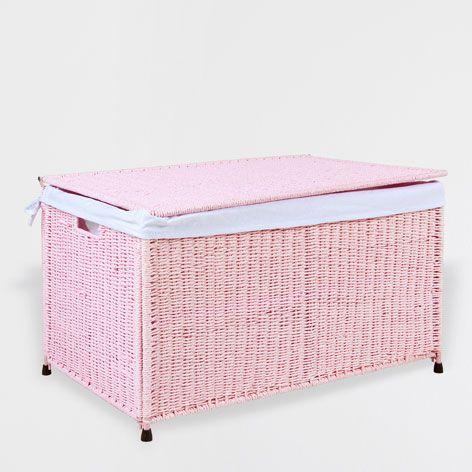 Ba l plegable rosa cestas decoraci n zara home for Cestas zara home