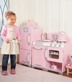 Pink Play Kitchen from Chasing Fireflies - much cheaper than Pottery Barn version