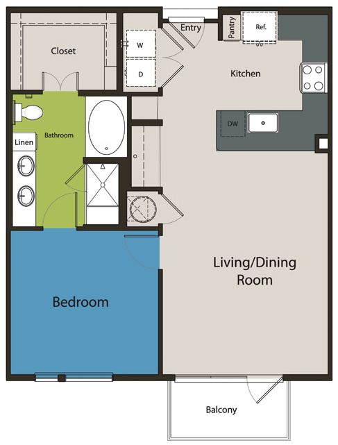 287 best small space floor plans images on pinterest for One bedroom apartment with garage