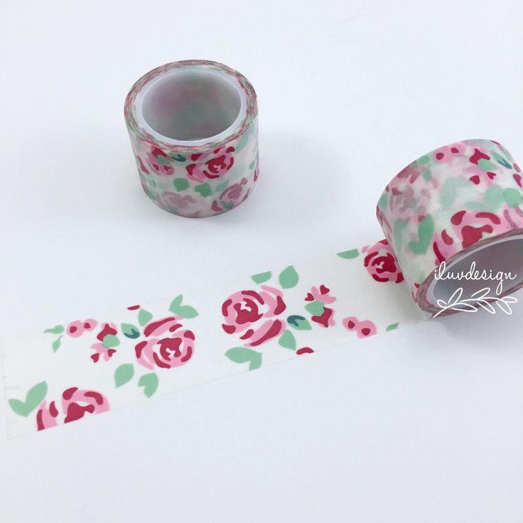 Roses Washi Tape • Vintage Floral Washi Tape