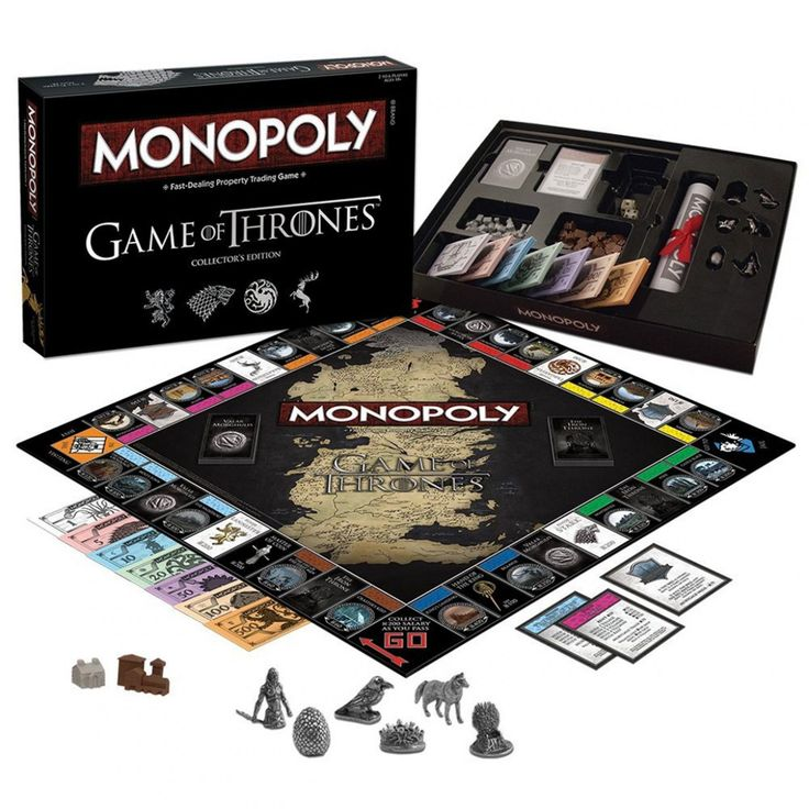 Game Of Thrones Monopoly voor alle fans van de cultserie die de strijd om de ijzeren troon zonder bloedvergieten willen beslissen.