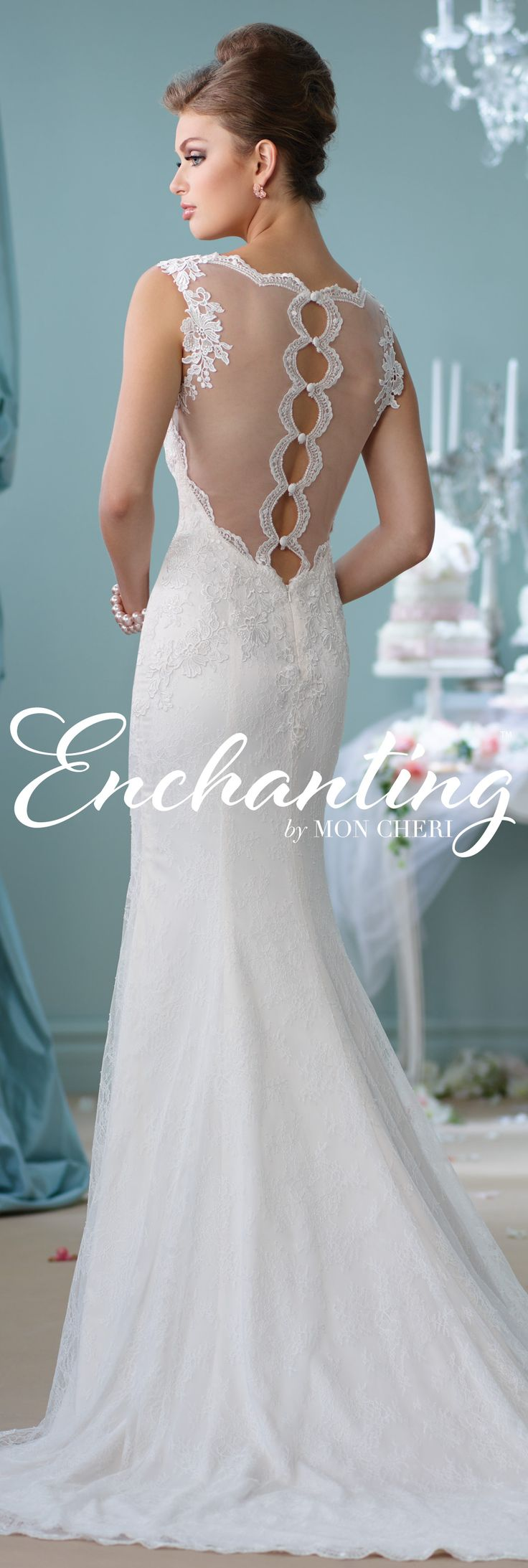Enchanting by Mon Cheri Spring 2016 ~Style No. 116132 #laceweddingdress