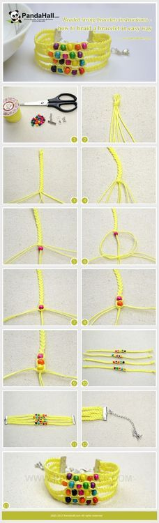 Jewelry Making Tutorial-How to Make a Braided Friendship Bracelet with Wooden Beads   PandaHall Beads Jewelry Blog