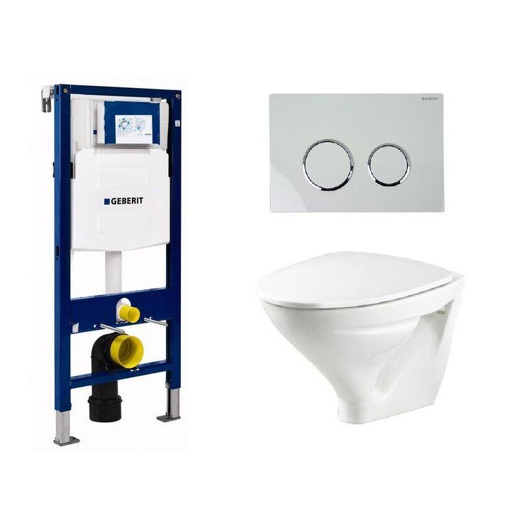 Vägghängd Toalettstol Ifö Sign 6875 med Geberit Duofix - Vägghängd toalett - Toalettstol & WC-stol