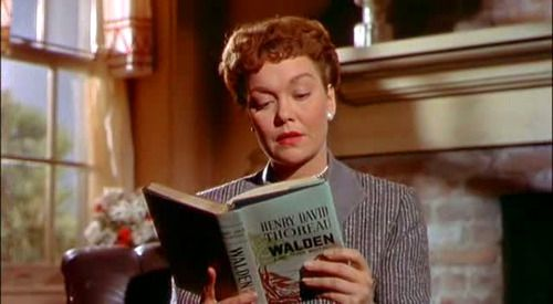 Jane Wyman reading Walden; or, Life in the Woods By Henry David Thoreau in All That Heaven Allows (Douglas Sirk, 1955)