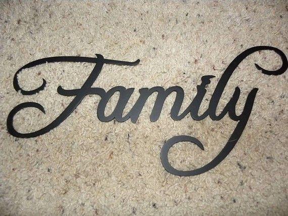 Family Word Decorative Metal Wall Art Home Decor by jnjmetalworks, $15.99