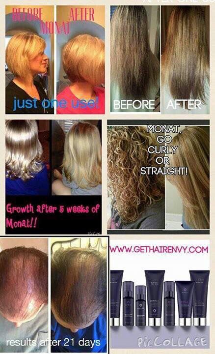 BeforeAfter With MONAT Products Results With MONAT