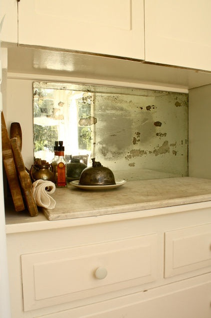 old mirror backsplash kitchen pinterest