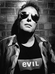 Jello Biafra of Dead Kennedys wore this t-shirt - an adaptation of the Levis logo - for a photoshoot.