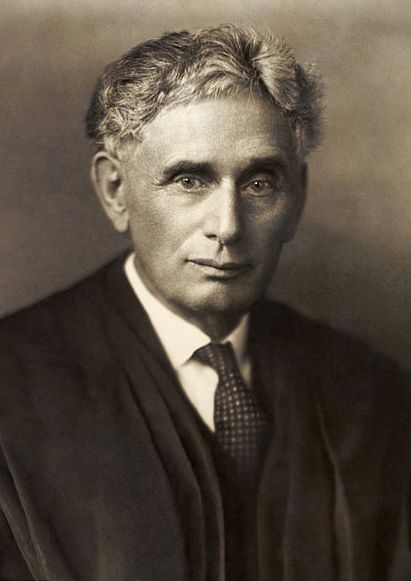 """Photo of Louis Brandeis, c. 1916. Credit: Harris and Ewing; Library of Congress Prints and Photographs Division. Read more on the GenealogyBank blog: """"'People's Lawyer' Louis Brandeis: 1st Jewish Supreme Court Justice."""" http://blog.genealogybank.com/peoples-lawyer-louis-brandeis-1st-jewish-supreme-court-justice.html"""
