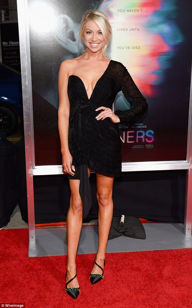 Hello, gorgeous: Stassi Schroeder expertly drew focus Wednesday night when Flatliners premiered at The Theatre At Ace Hotel in Los Angeles