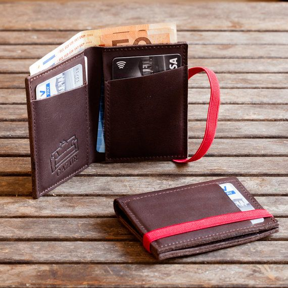 Brown leather wallet Mens wallet Leather wallet by Gazur on Etsy