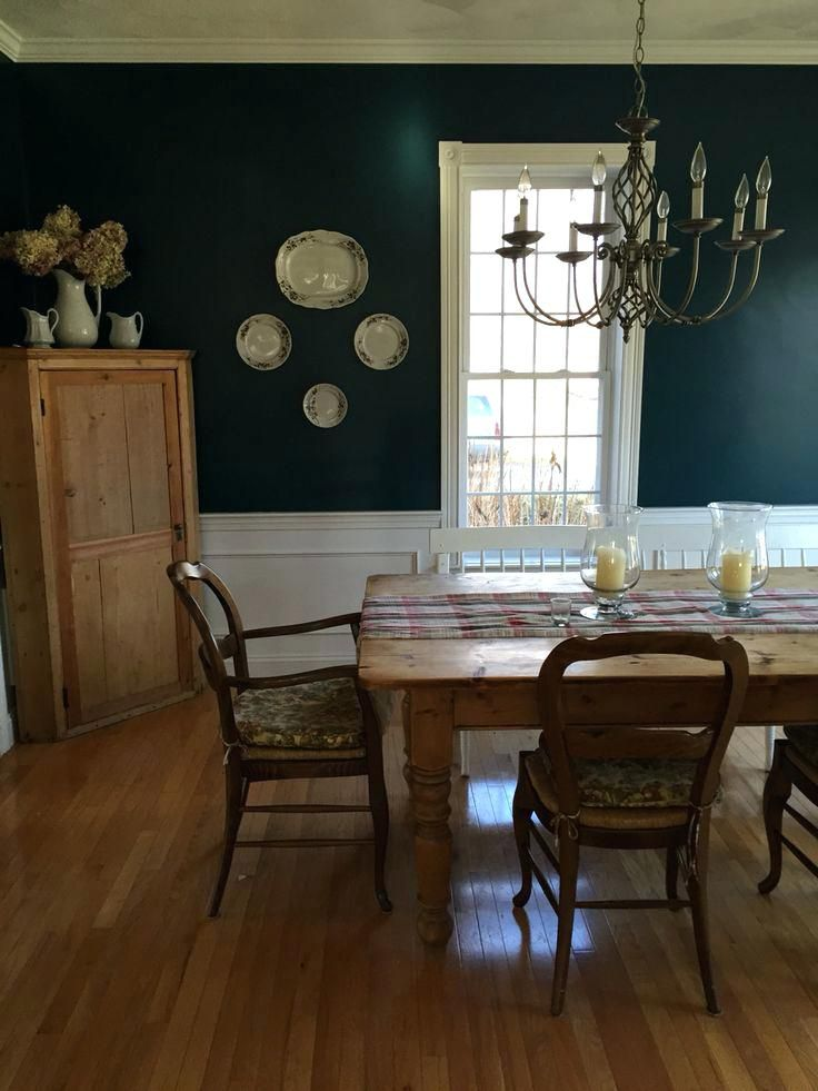 Benjamin Moore Dark Harbor Dining Room Living Room Colors Teal Living Rooms Living Room Decor Apartment