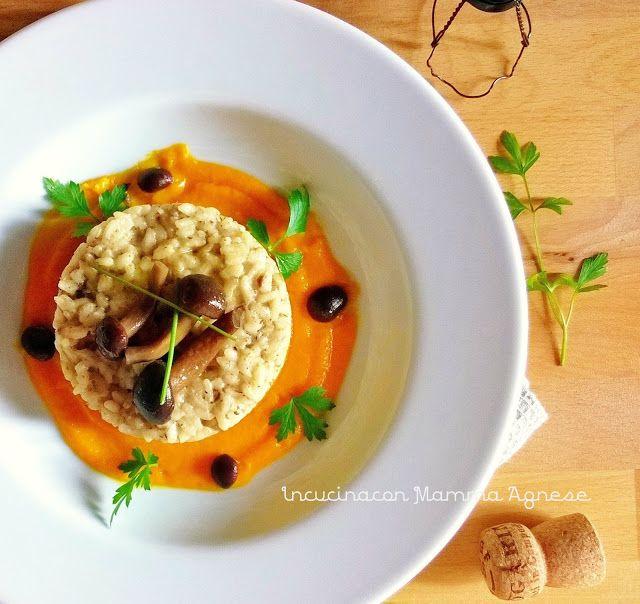 In Cucina con Mamma Agnese: Risotto ai Funghi Chiodini su Crema di Carote all'Asiago