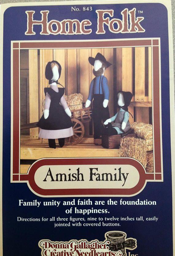 Home Folk Amish Family Vintage UNCUT