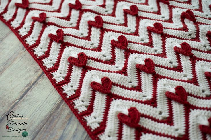 Unique, fun and full of love describe the Heartbeat Chevron Afghan crochet pattern best. This is such a great pattern to work up in sizes infant to adult. The hearts on this are worked right into the design so you don't have to worry about stitching on appliques after the blanket section is complete. I love being able to fasten off an afghan and wrap right up in it!Many stitch placement photos are included to keep the guessing out of the work.Easily customize to your desired size.While…