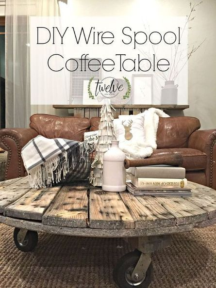 diy wire spool coffee table, diy, painted furniture, pallet, rustic furniture