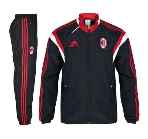 AC Milan Training Presentation Suit - Black AC Milan Official Merchandise Available at www.itsmatchday.com