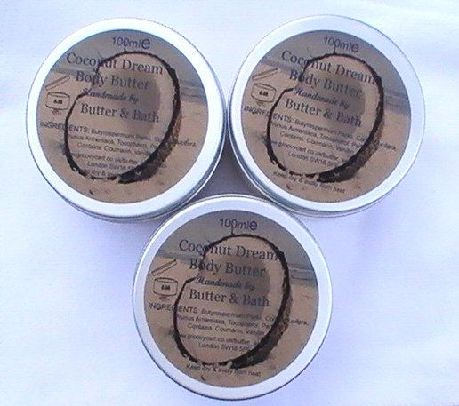 Coconut Dream Body Butter Handmade Skin Care by ButterandBath, £5.50