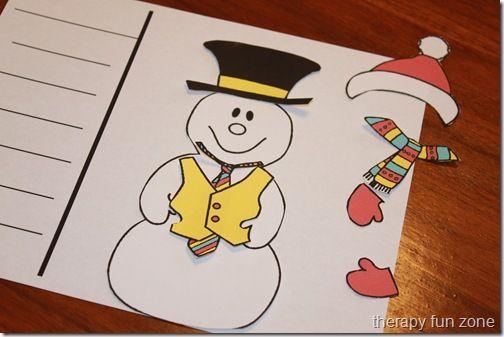 Snow Man Dressing- felt/magnet board