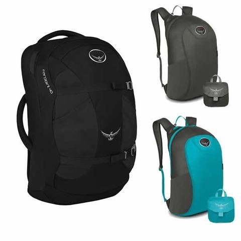 Osprey Farpoint 40 Litre Travel Pack + Free Daypack!