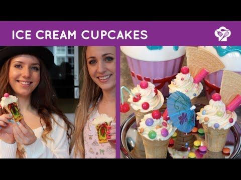 ▶ FOODGLOSS - Ice cream cupcakes - YouTube