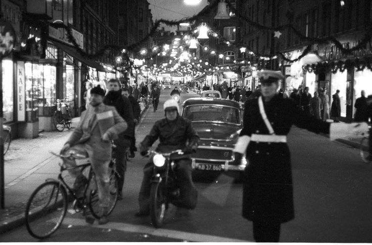 Juleudsmykket Værnedamsvej i  1961. Foto Egon Engmann.