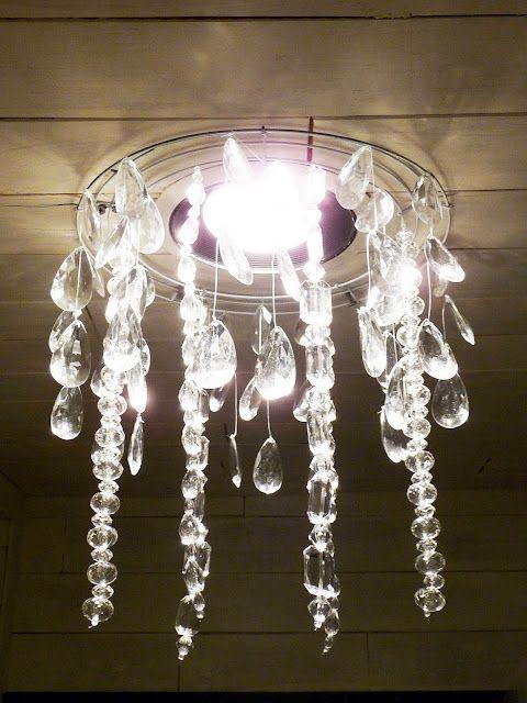 25+ unique DIY Christmas light chandelier ideas on Pinterest ...