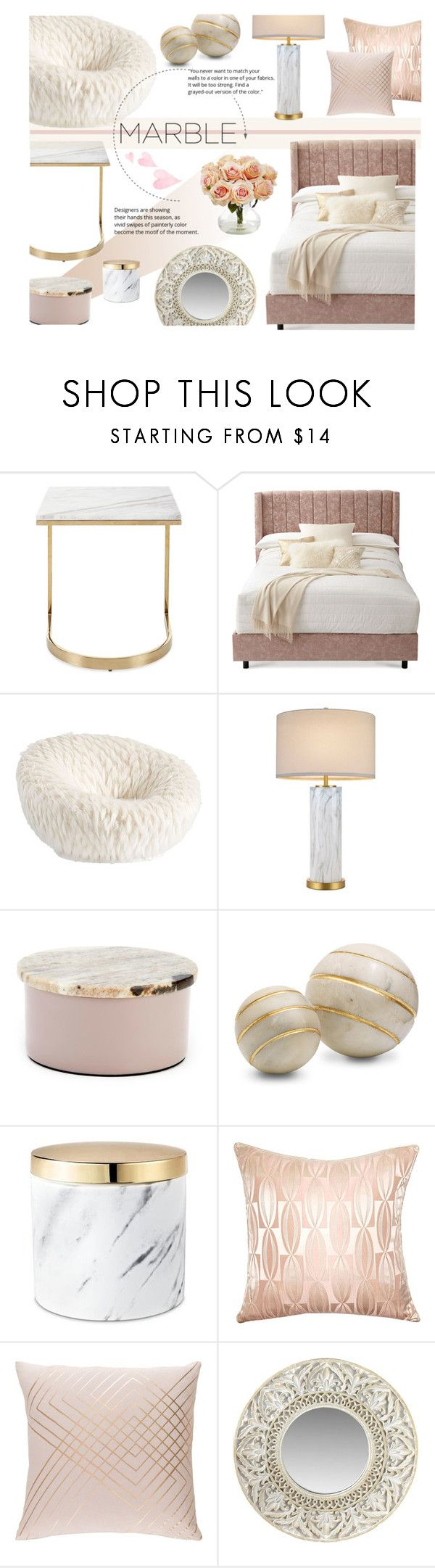 """""""Marble Elegance, Vol I"""" by nvoyce ❤ liked on Polyvore featuring interior, interiors, interior design, home, home decor, interior decorating, Bernhardt, PBteen, Broste Copenhagen and Squarefeathers"""