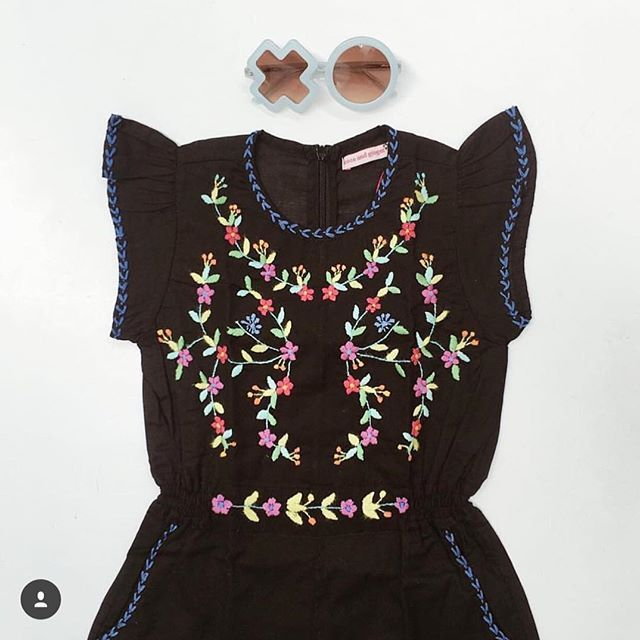 The beautiful Magnolia Playsuit in Black with Hand Stitch in a beautiful flat lay by @sobeaubaby. An NZ exclusive to So Beau Baby, in store and online now at www.sobeaubaby.com  #radiatepositivevibes #cocoandgingernewzealand #standtall #