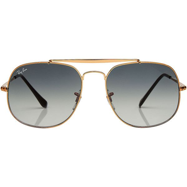 Ray-Ban Square Aviator Sunglasses (975 DKK) ❤ liked on Polyvore featuring accessories, eyewear, sunglasses, multicolored, square aviator sunglasses, aviator sunglasses, vintage sunglasses, vintage aviator glasses and vintage glasses
