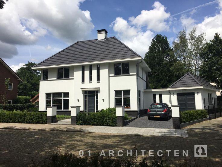 Fraaie foto's van nieuwbouw woningen en villa's door 01 Architecten met rieten dak, leipannen of dakpannen. Ervaar hoe sfeervol nieuwbouw kan zijn!