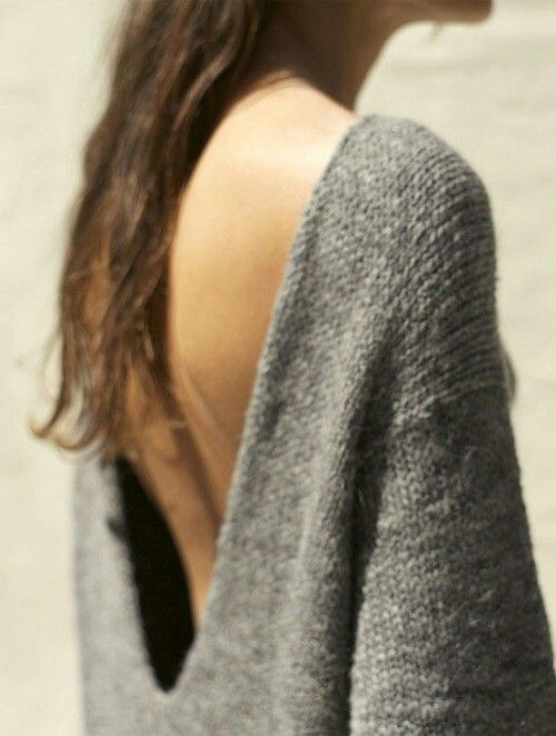 Backless sweater