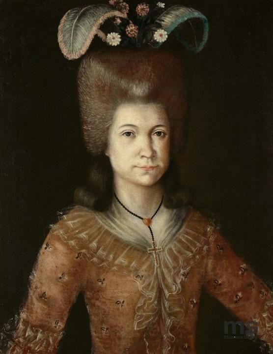 Józef Faworski, Portrait of A Polish Lady, 1785-1795, Lodz, National Museum
