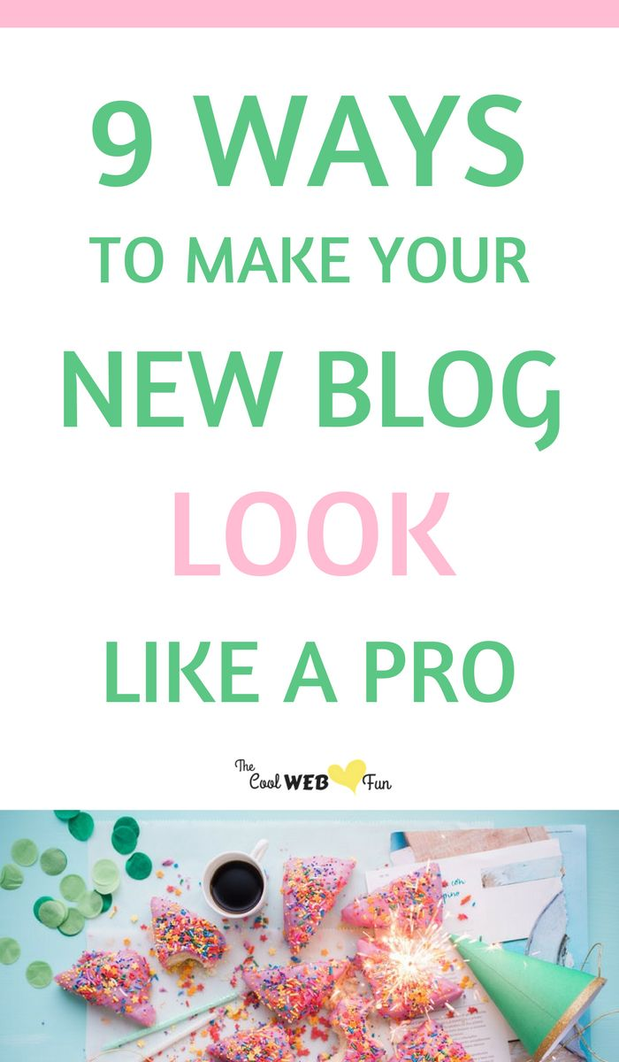 How to make your new blog look like a Pro Blog even before you publish your first new blog post.  New blogger tips   New blog checklist http://www.coolwebfun.com/how-to-make-your-new-blog-look-like-a-pro/