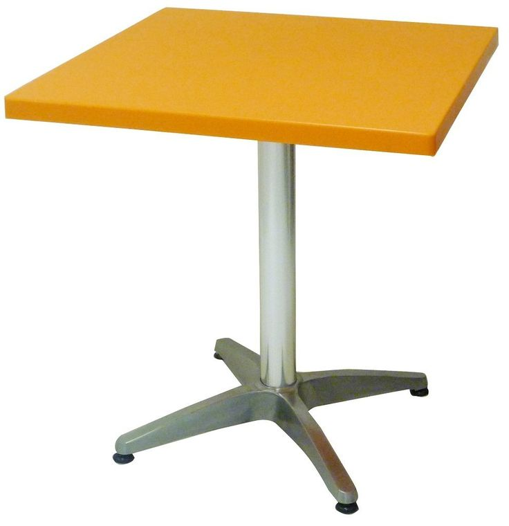 Tavolo tavolino quadrato in dura resina arancione e alluminio 70x70h72: Amazon.it: Casa e cucina