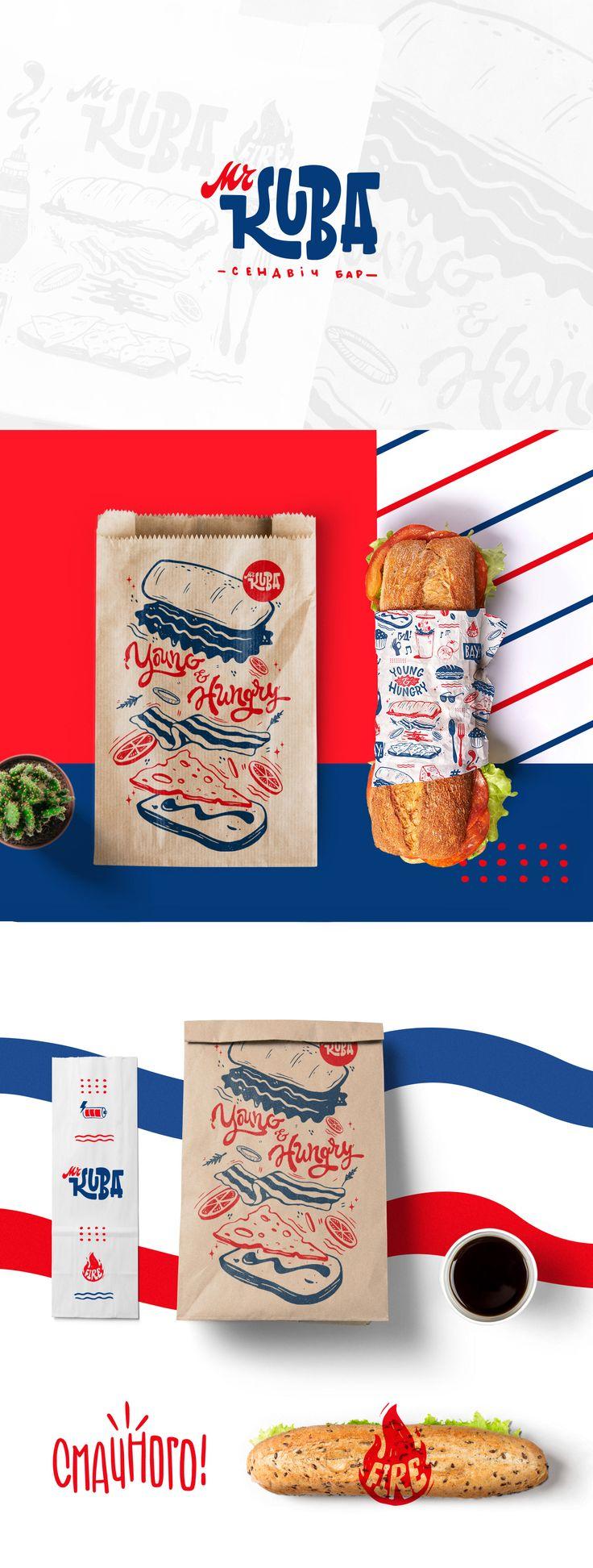 Fast food identity branding idea creative brand image