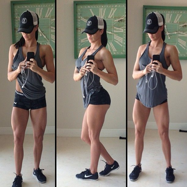 A Fitness Model's exercise and diet routine!  I don't aspire to this body type for myself, but wow her body is nuts!  Bad A**!