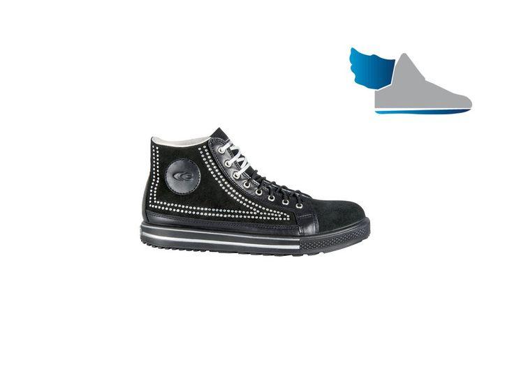 Pracovná, členková obuv  POINT S1 P SRC  z talianského semišu.