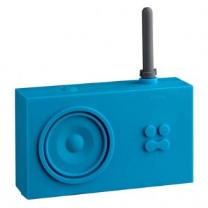 Tykho radio. LA 42. Design Marc Berthier.    This is the item in the LEXON range that has won most prizes and had the most press attention. Chosen for the permanent collection of the New York Museum of Modern Art