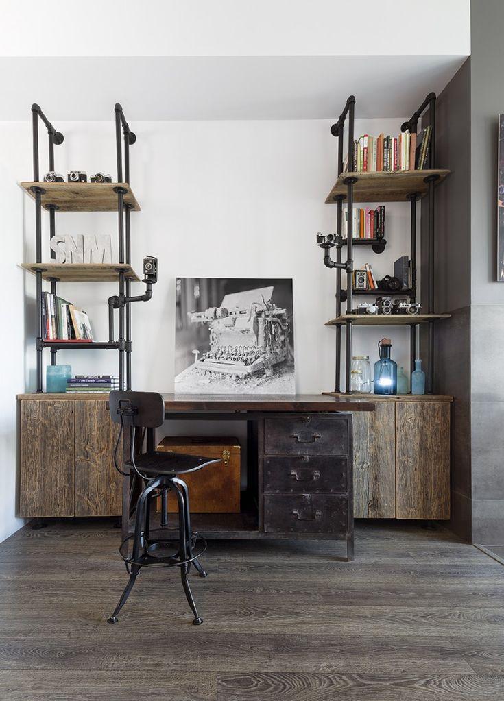 renovated-toronto-loft-pipe-shelving