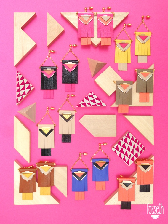 ▾ Big earings board ▾   #earrings  #graphic #franges #tangram #embroderies