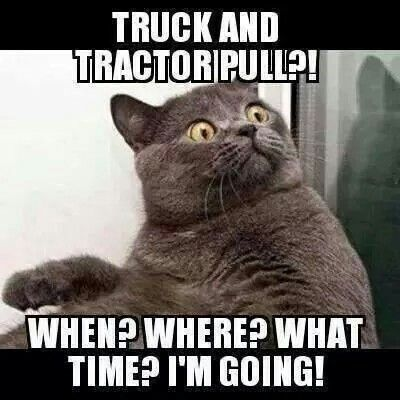Kitty says... truck n tractor pull who what when OMG say what