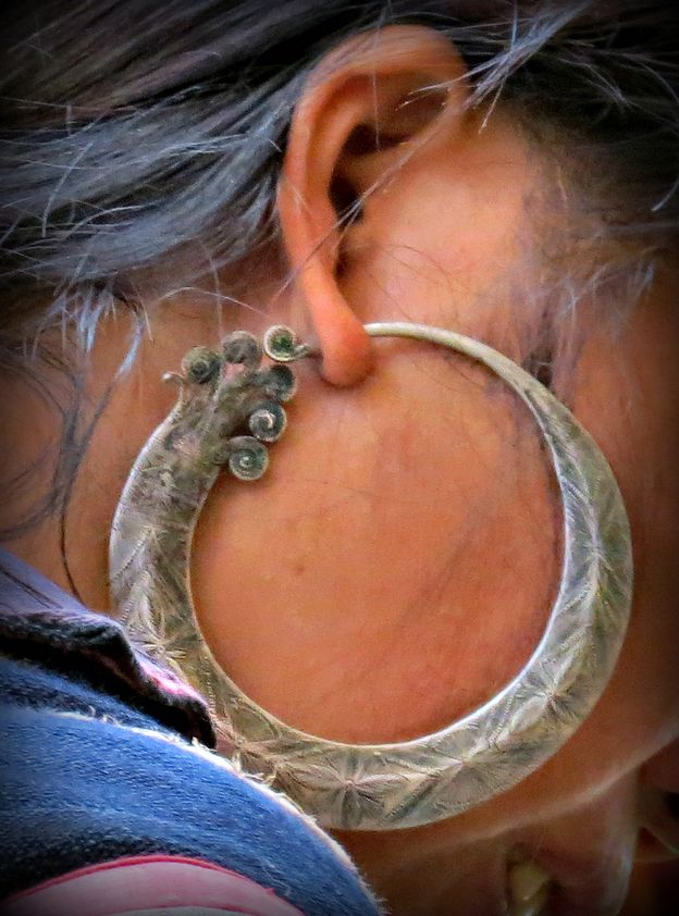 Vietnam | Black Hmong Jewellery Detail.  Sa Pa. | ©Linda De Volder