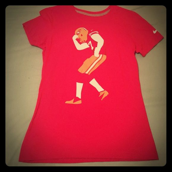 Collin Kapernick women's shirt Women's 49ers tee! Wore this once because my ex boyfriend is a huge fan. Really good quality! Just would like it gone for obvious reasons  Nike Tops