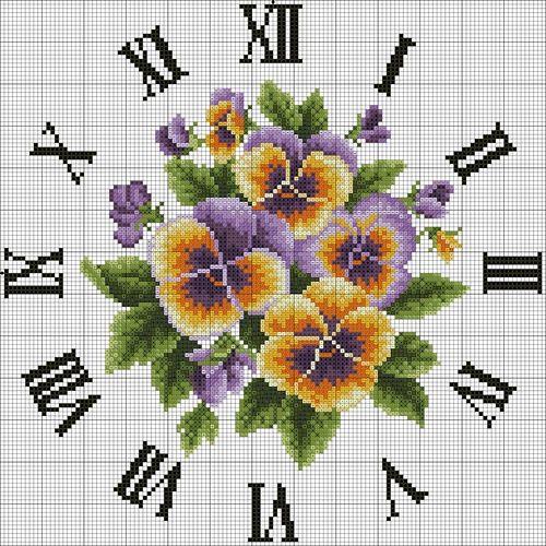 Handmade-kursy ,wzory ,tutoriale: Haft krzyżykowy -schematy zegarów