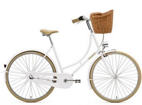HolyMoly Solo fra Creme Cycles er flotte klassiske bysykler. På disse syklene sitter du oppreis og du har en avslappet stilling på armer og rygg. Behagelig sadel med springfjær. HolyMoly kommer i tre farger (blå, hvit og orange) for 2013 sesongen og kurv en inkludert i prisen. Syklene er produsert i Europa og har god kvalitet.  Kommer med 3 interne gir (Shimano Nexus 3-speed)somgir deg litevedlikehold og girutvekslingen passer i medium bratt...