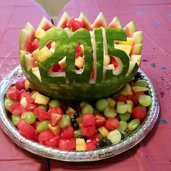 Fruit Basket watermelon for graduation parties this season.
