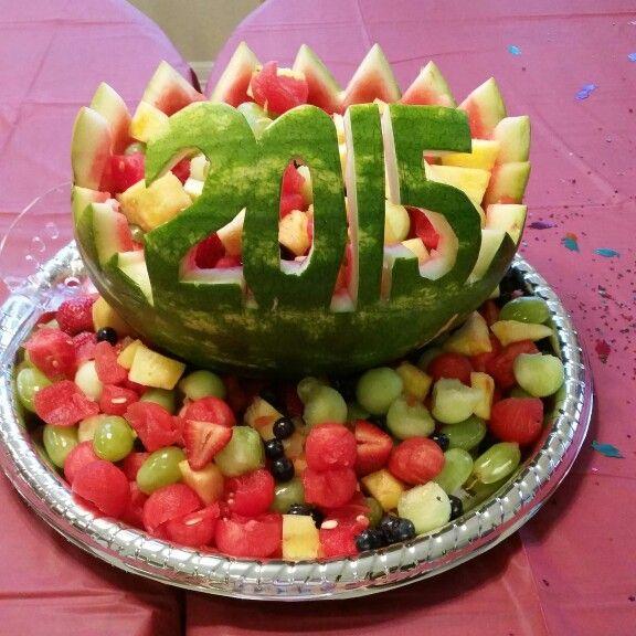 Fruit Basket watermelon for graduation parties this season.